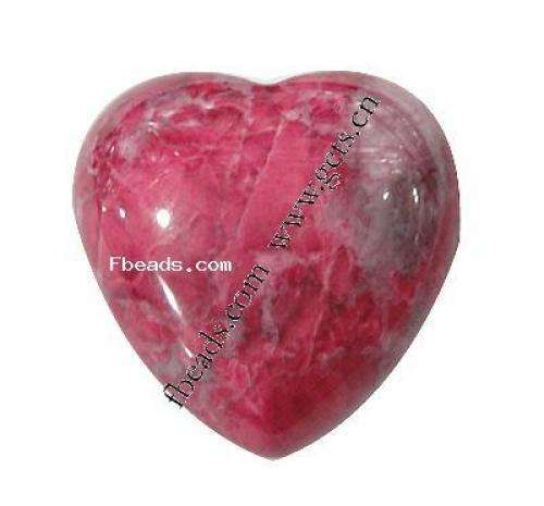 Wholesale Natural turquoise native howlite cabochon Heart dyed different size for choice red 287308