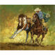Wholesale 5d Diy Diamond Painting Two People Riding Two Horses Diamond Embroidery European Home Decor