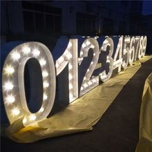 2020 led metal letters new metal vintage light up marquee letters 3D led lights