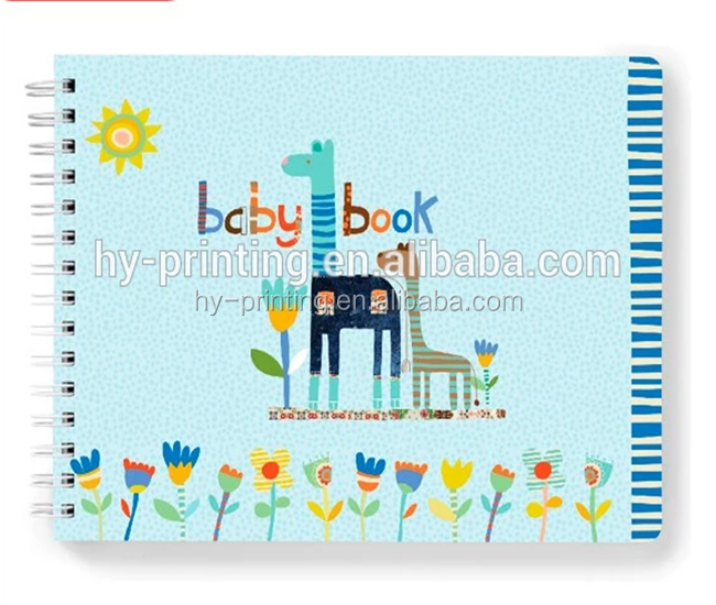 Wholesale custom hardcover recordable baby journal books