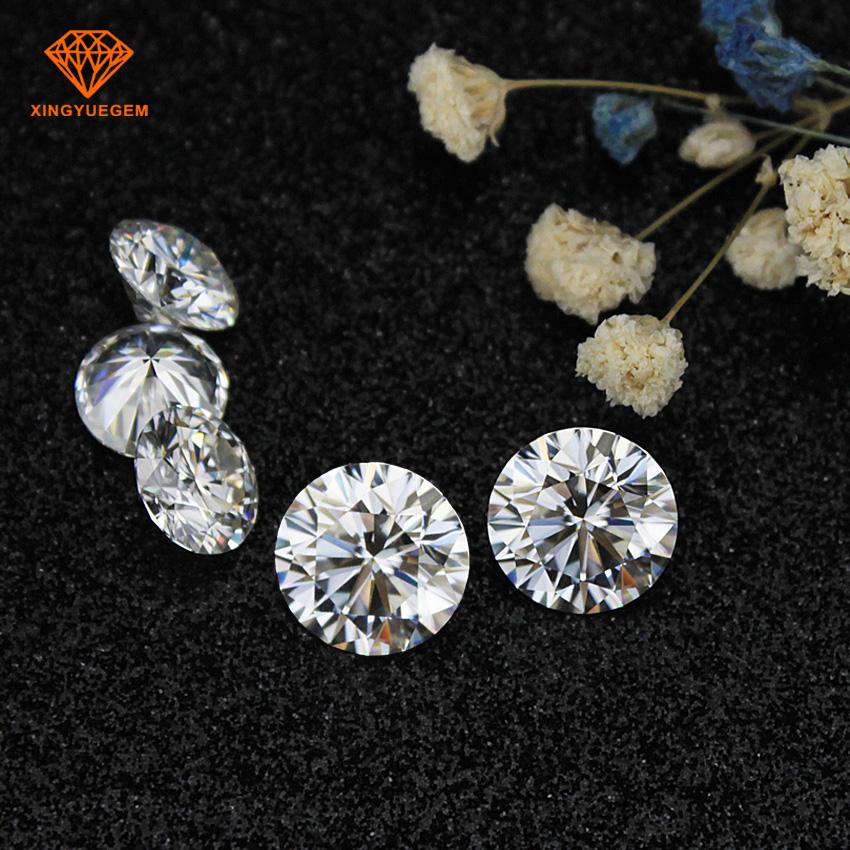 Excelente diamante corte redondo 9mm def moissanite incoloro precio por quilate
