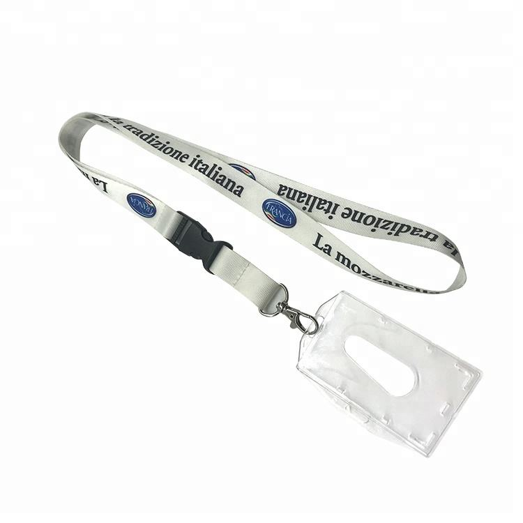 2018 personalized printed polyester lanyard with vendor approved