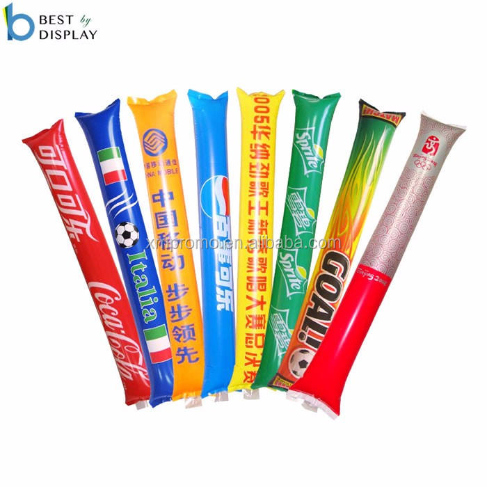 Cheering Sticks Customized Events Inflatable Balloon Stick Clappers Noise Cheering Sticks