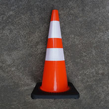 Soft Standard Reflective Flexible PVC Rubber Plastic Traffic Safety Cones