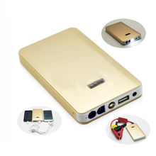 8000mAh 5V 12V USB Slim Metal Car Jump Power Supply Starter Universal Car Battery Golden Color