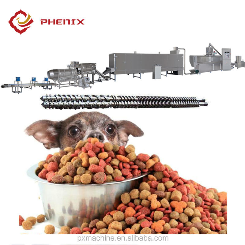automatic dry pet /animal/dog food pellet processing line price