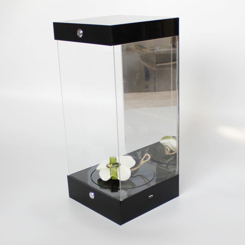 LED Light Shop Clear Box with Switch Acrylic Display Cabinet for Toy Acrylic Display LED Box Action Figure Display Case