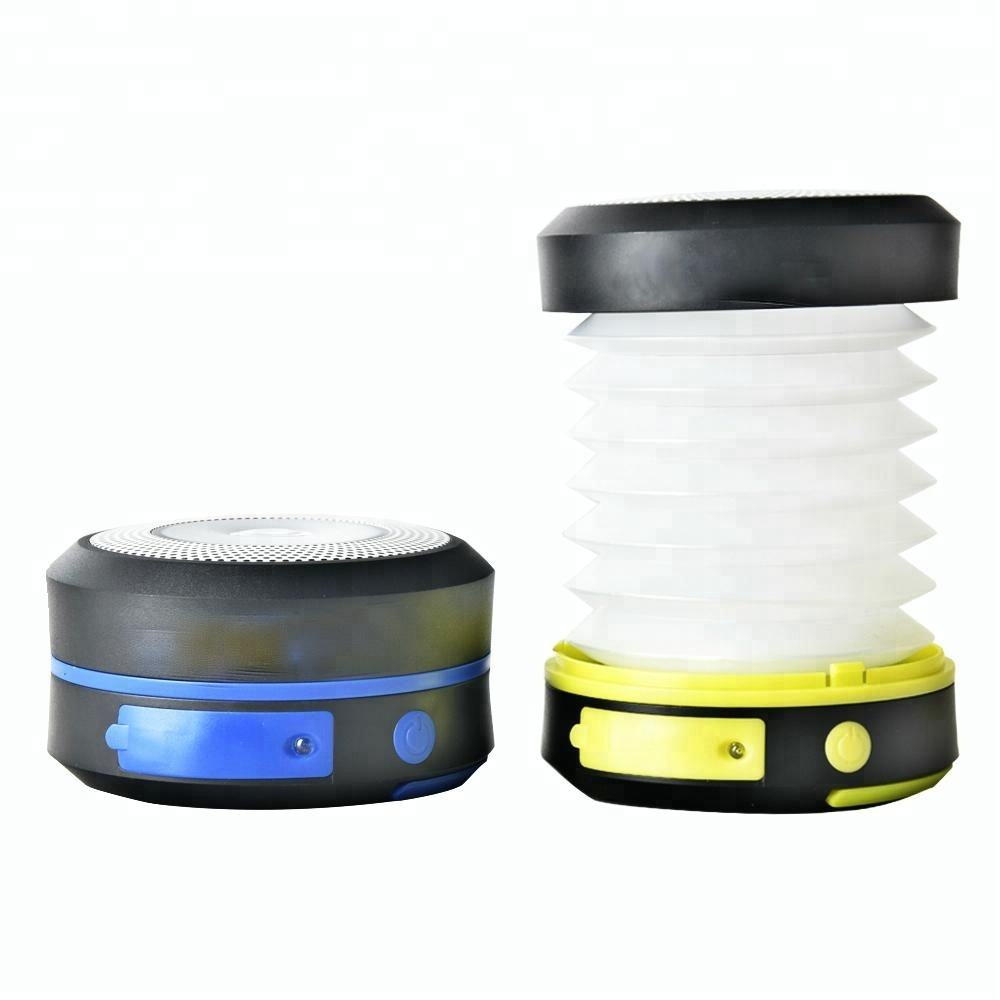 Collapsible Emergency Solar USB Rechargeable Camping LED Lantern with Power Bank