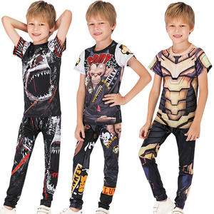 Cody Lundin sublimation rashguard kids clothes sportswear t shirt and pants for kids