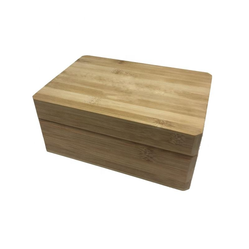 New custom matte paint mdf bamboo wooden tea box wooden box for gift