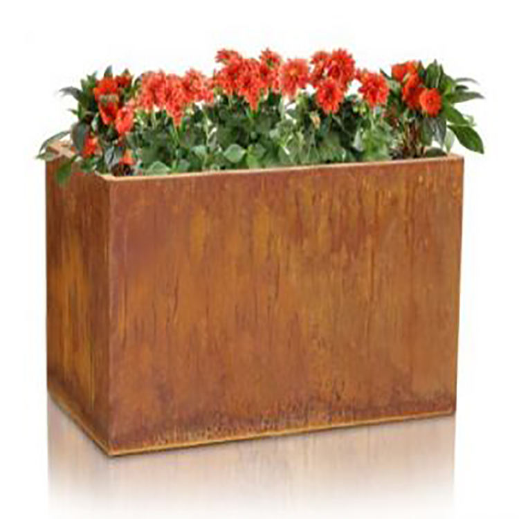 New antique corten steel metal flower planter pots garden