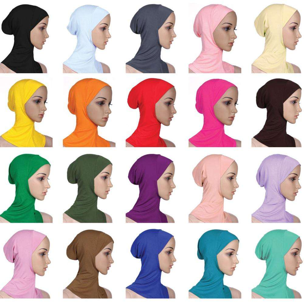 Fashion Head Wear Scarves Full Cover Caps Inner Muslim