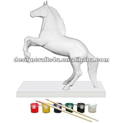 poyresin unpainted horse figurine for DIY painting