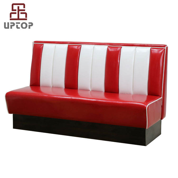 (SP-KS269) Retro 50s American style bel air diner booth restaurant sofa