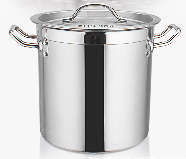 304 stainless steel stock pot /commercial stock pot/soup pot with Sandwich Bottom Lid
