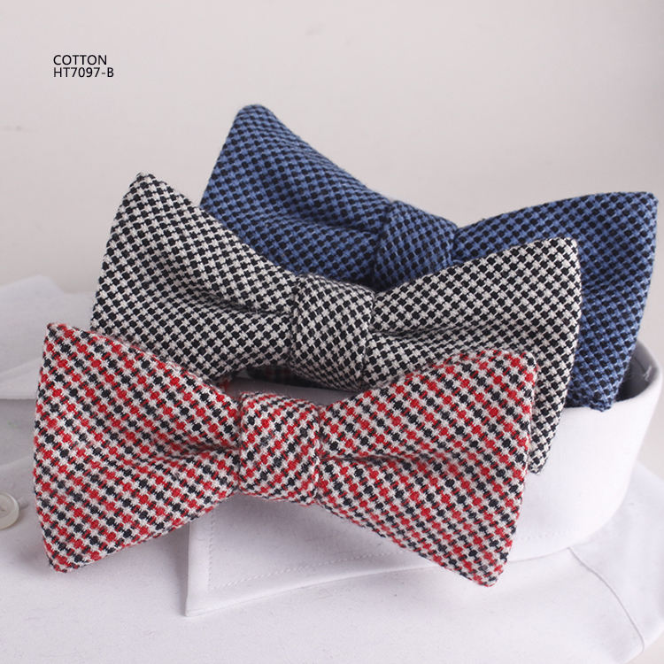 Bahama Checks Mens Cotton Bowties Set Factory