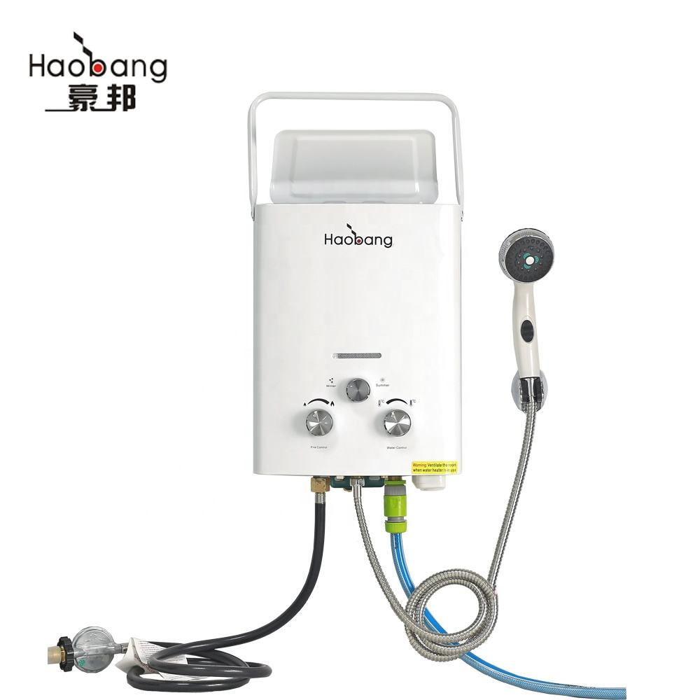 Hot sale Portable camping LPG instant 3V gas hot water heater