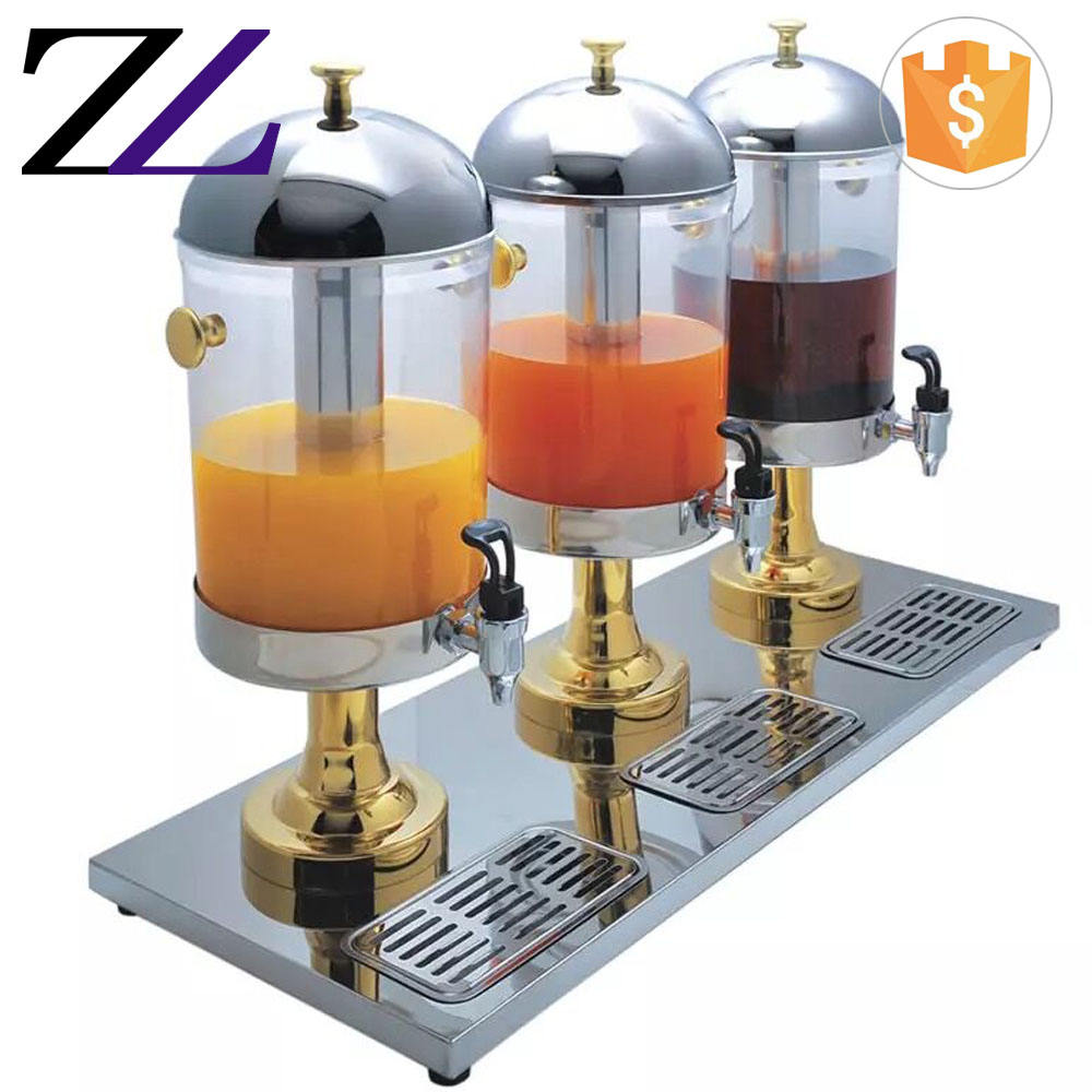 Wholesale refrigerated glass beverage dispenser plastic multi 3 compartment commercial cold drink dispenser