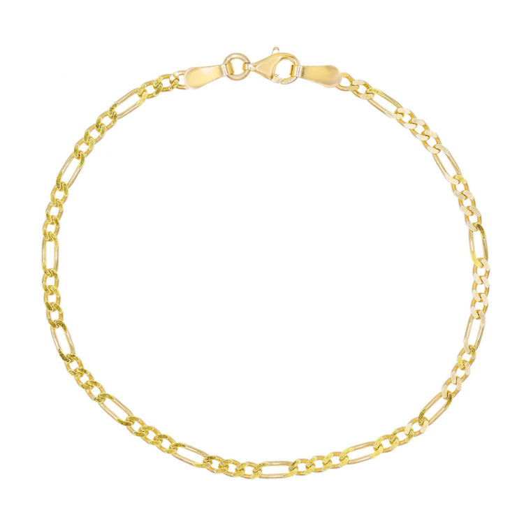 High Quality Dainty 925 Sterling Silver Figaro Chain Anklet For Women
