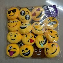 Wholesale Factory Cheap Price Smiley face Plush Emoji Keychain