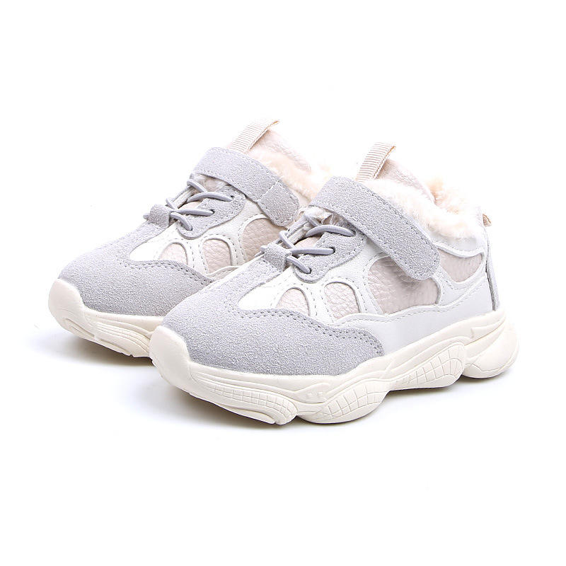 New arrival fashion casual sports shoes girls winter warm kids shoes