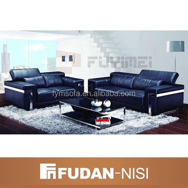 Sofá de cuero moderno ajustado FM068 salón sofá de cuero italiano <span class=keywords><strong>muebles</strong></span> de sala