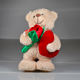 Promotional I Love You Forever Friend Heartbeat white Plush Teddy Bear With Red Heart