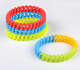Wholesale Camo colors silicone Hollow Twist wristband bracelet