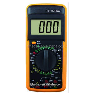 SANON Mult/ímetro Digital Dt-9205A Mult/ímetro Digital de Mano Ac//Dc Volt Amp Ohm Capacitancia Hz Probador