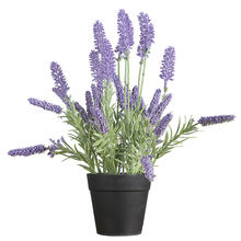 Small Lavender Artificial Flower Pot Faux Potted Plants Decorative Faux Lavender flowers Artificial Flower
