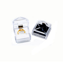 2018 hot sell Popular transparent Plastic Acrylic Engagement Ring Jewelry Box