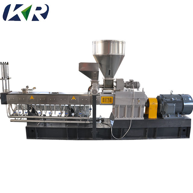 Plastic Granules Making Machine Waste Recycling Granulating Production Line/PVC Extruder Conical Twin Screw Extruder