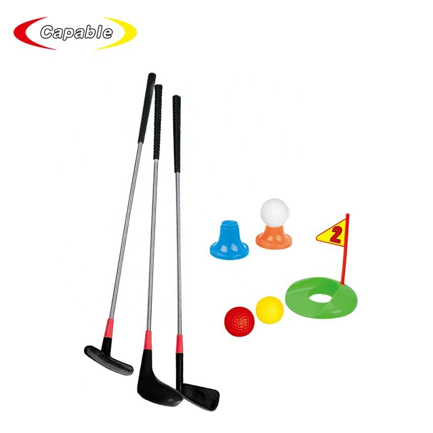 Bambini golf club set giocattoli educativi deluxe outdoor di golf di plastica