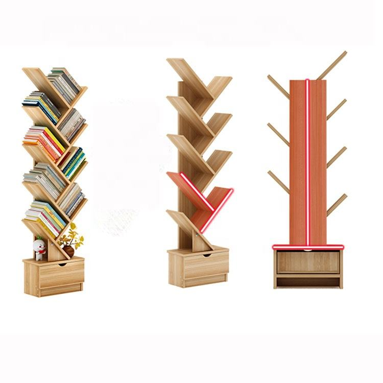hot selling wooden wood China factory price book shelf bookcase for living room