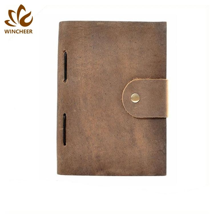 Wholesale blank vintage journals handmade genuine leather notebook journal with high quality custom leather diary