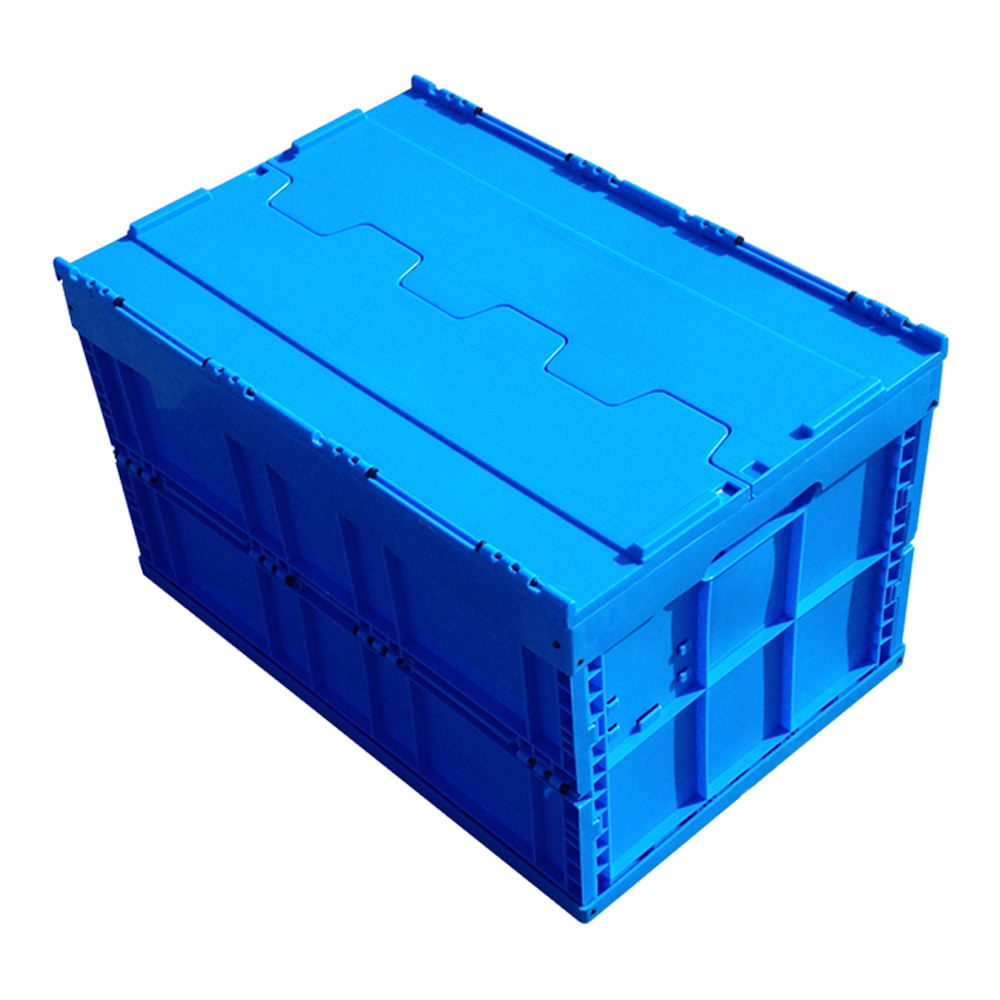 Plastic Turnover Box Logistics Crate Folding Plastic Box with Lid