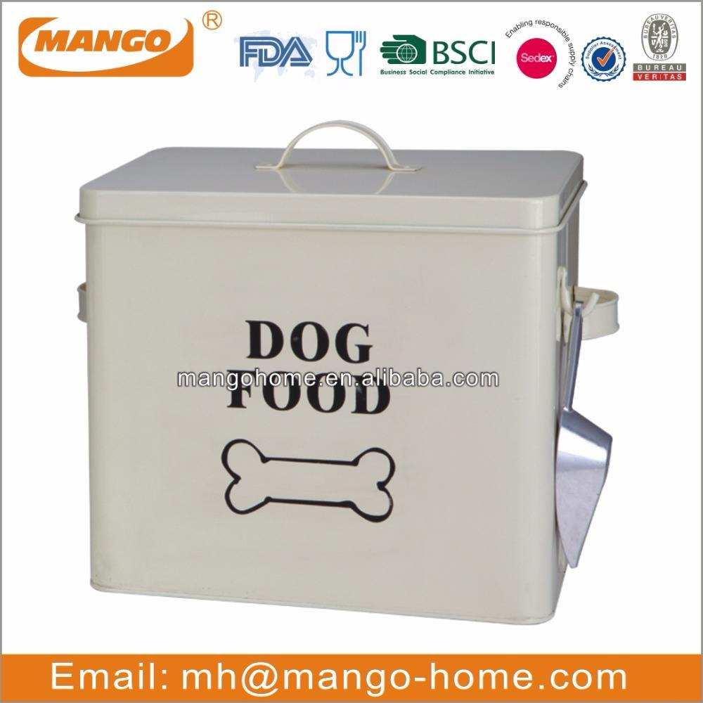 Rectangular Metal Dog Food Storage Containers
