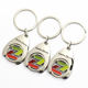 China Maker Handmade Bulk Cheap Custom Shape Fancy Metal Cool Logo Euro Coin Printing Key Holder