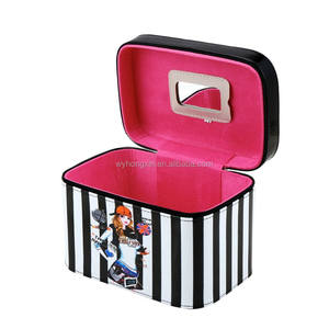 Custom wholesale portable cosmetic toiletry kit makeup organizer cosmetic box