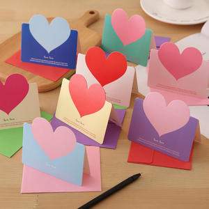 Bsci Factory Audit Heart Shape Handmade Birthday New Year Birthday love Greeting Cards