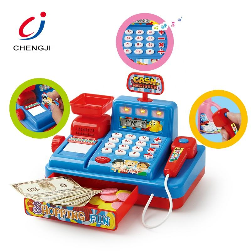 New item cheap shopping supermarket electronic cash register game cashier toy