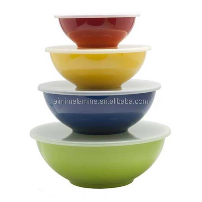 Factory Price Eco-friendly 12 pcs Melamine Salad Bowl Set With Lid 6 pcs melamine bowl set