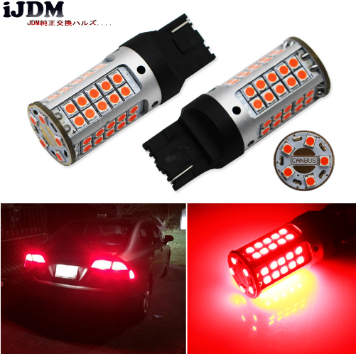 7440 LED Kein Hyper Flash 21 Watt High Power Red T20 W21W Für Auto Blinker, Rückleuchten, Bremsleuchten, CANBUS