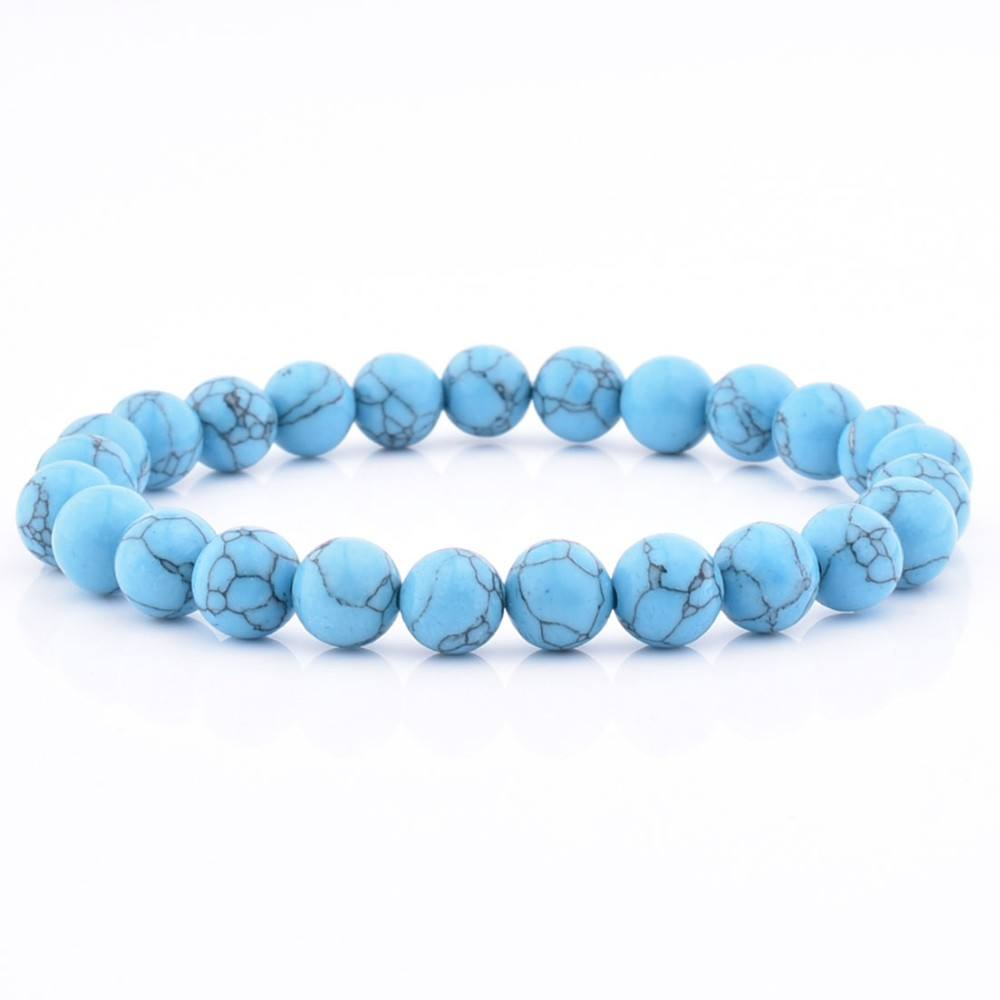 2018 Hot Sale Factory Price Blue Turquoise Stone Bracelet With High Quality
