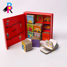 Round corner finishing color printing cardboard books for babies and toddlers
