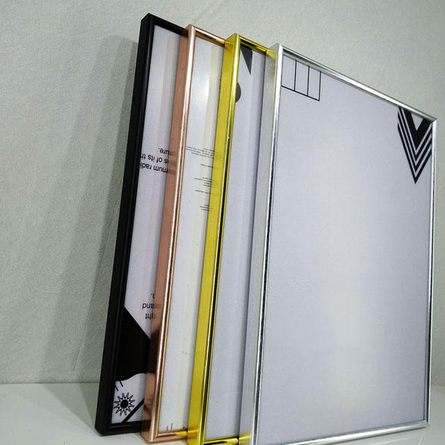 Wholesale aluminum photo frames and customized large size advertising picture frames