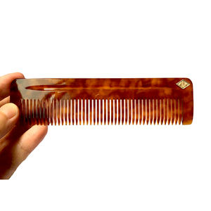 WB400-06 Custom Your Logo Straight Acetate Beard Comb Moustache Luxury Man Comb