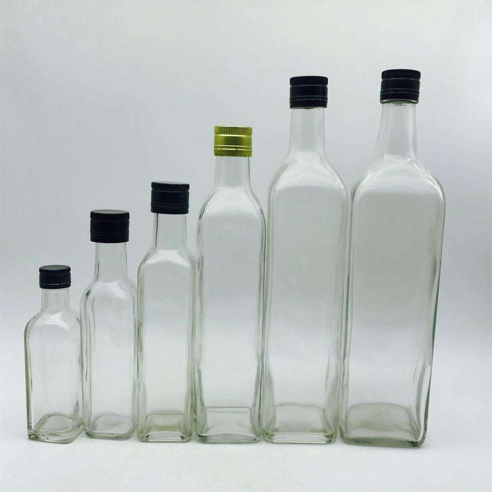 250ml 500ml 750ml 1000ml Glass olive oil bottle with metal plastic cap