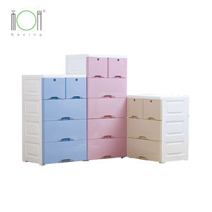 Food grade PP baby colorful plastic drawer storage cabinet