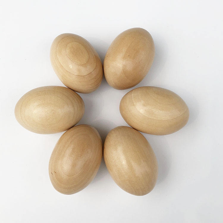 핫 세일 나무 egg real wood egg egg shape 공예